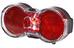 Busch + Müller Toplight Flat senso Lampka rowerowa tylna czerwony/czarny